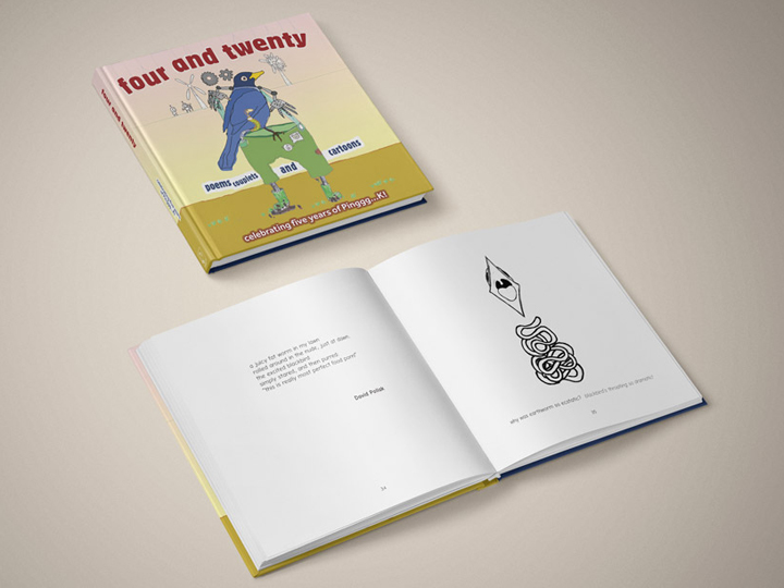 Pinggg...K! Four and Twenty book cover and pages